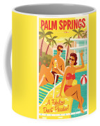 Palm Springs Poster - Retro Travel Coffee Mug by Jim Zahniser