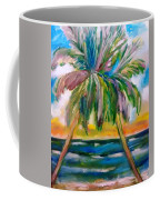 Palm Tree Color Times Two Coffee Mug
