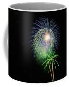 Palm Tree Fireworks Coffee Mug