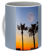 Palm Tree Full Moon Sunset Coffee Mug