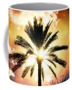 Palm Tree In The Sun #2 Coffee Mug