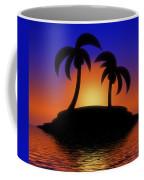 Palm Tree Island Coffee Mug