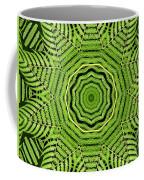 Palm Tree Kaleidoscope Abstract Coffee Mug