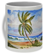 Palm Tree Ocean Scene Coffee Mug