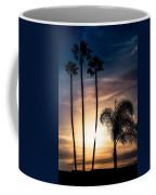 Palm Tree Sunset Silhouette Coffee Mug
