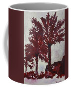 Palm Trees Acrylic Modern Art Painting Coffee Mug