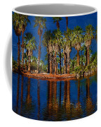 Palm Trees On The Water Coffee Mug