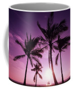Palms And Pink Sunset Coffee Mug