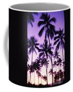 Palms And Purple Sky Coffee Mug