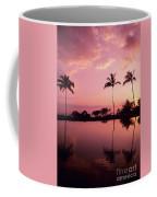 Palms At Still Lagoon Coffee Mug