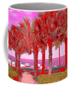 Palms In Red Coffee Mug