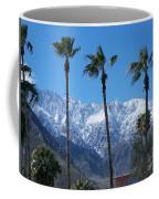 Palms With Snow Coffee Mug