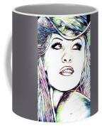 Pamela  Anderson Portrait Coffee Mug