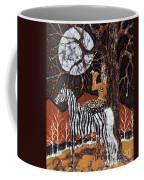 Pan Calls The Moon From Zebra Coffee Mug