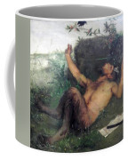 Pan Whistling At A Blackbird 1863 Coffee Mug