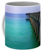 Panama City Beach Pier Coffee Mug by Toni Hopper
