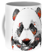 Panda Bear Art - Black White Red - By Sharon Cummings Coffee Mug