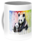 Panda Watercolor Mom And Baby Coffee Mug