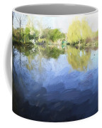 Panorama 2 Of Monets Garden In Giverny Coffee Mug