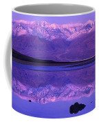 Panorama Badwater And The Panamint Range At Sunrise Death Valley Coffee Mug