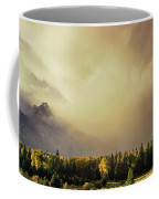 Panorama Clearing Storm Over The Grand Tetons Coffee Mug
