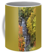 Panorama Fall Color Chapel Falls Upper Penninsula Mi Coffee Mug