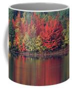 Panorama Fall Color Moccasin Lake Upper Peninsula Mi Coffee Mug