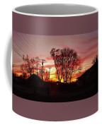 Panorama    Mid Winter Sunset In The City       Indiana Coffee Mug