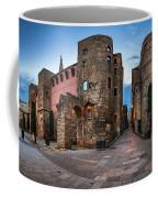 Panorama Of Ancient Roman Gate And Placa Nova In The Morning, Ba Coffee Mug