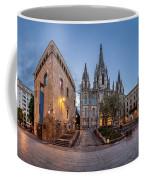 Panorama Of Cathedral Of The Holy Cross And Saint Eulalia In The Coffee Mug