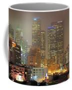 Panorama Of Downtown Los Angeles In The Fog Coffee Mug
