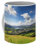 Panorama Of Keswick And Lake Derwent Water Panorama From Latrigg Coffee Mug