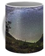 Panorama Of Milky Way Over Red Rock Coffee Mug