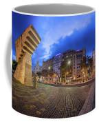 Panorama Of Placa De Catalunya In The Morning, Barcelona, Spain Coffee Mug