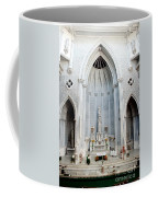 Panorama Of The Main Altar Of St. John The Evangalist Roman Catholic Church Schenectady Coffee Mug
