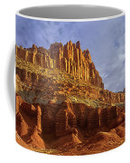 Panorama The Castle On A Cloudy Morning Capitol Reef National Park Coffee Mug