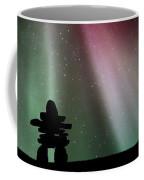 Panoramic Inukshuk Northern Lights Coffee Mug