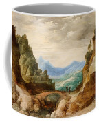 Panoramic Landscape With Travellers Coffee Mug