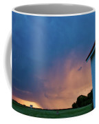 Panoramic Lightning Storm And Church Coffee Mug