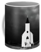 Panoramic Lightning Storm And Prairie Church 2 Coffee Mug