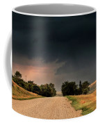 Panoramic Lightning Storm In The Prairie Coffee Mug