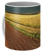 Panoramic Prairie Storm Canada At Sunset Coffee Mug