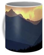 Panoramic Rocky Mountain View At Sunset Coffee Mug