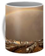 Panoramic Train Yard Storm Coffee Mug