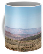 Panoramic View Of Open Desert Field In Nevada With Grand Canyon  Coffee Mug