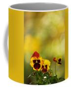Pansies In The Autumn Glow Coffee Mug