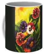 Pansies Or Vuela Mis Pensamientos Coffee Mug