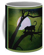 Panther Silhouette - Use Red-cyan 3d Glasses Coffee Mug