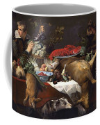 Pantry Scene With Servant By Frans Snyders Coffee Mug