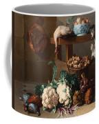 Pantry With Artichokes Cauliflowers And A Basket Of Mushrooms Coffee Mug